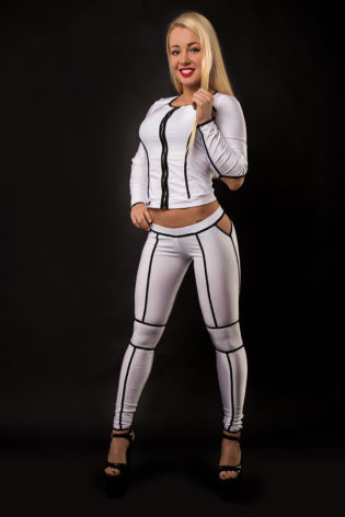 Pole dance clothing model Galaxi Maxi