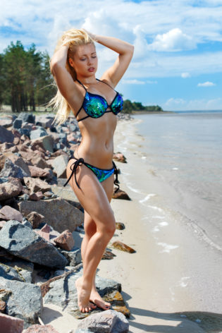 bikini beach pole dance clothes
