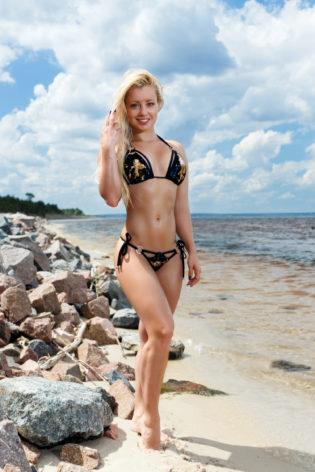 sokolova bikini beach sexy