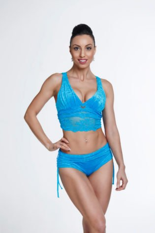 blue pole dance clothes