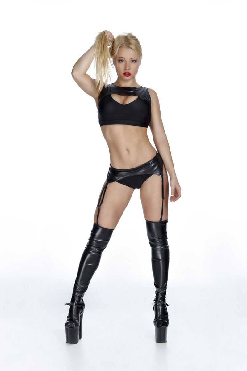 black pole dancing costume